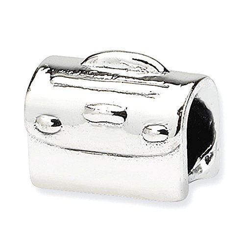 Sterling Silber Reflections Kids Floral Satchel Bead