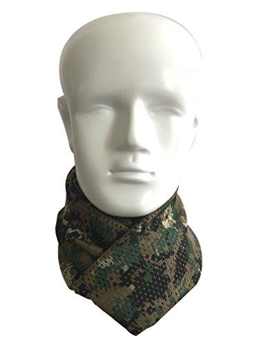 QMFIVE Écharpe tactique camouflage, hommes et femmes unisexe multi-usages bandeau militaire style tête wrap face mesh… 2