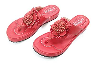 Shuang Red Thong Slipper For Women