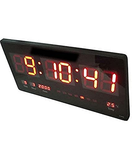 DOBO® - Reloj digital ultra fino con LED, de pared