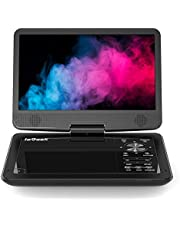 "ieGeek 12.5"" Portable DVD Player, Car Travel DVD Players with 5 Hrs Rechargeable Battery, Region-Free Video Player with HD Swivel Screen for Kids Elderly, Remote Control, Sync TV, USB&SD, Black"