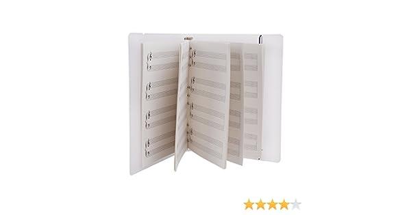 Hoja en blanco con espiral de música, plantilla de compostaje de ...