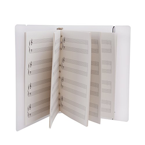 Blank Sheet Music Treble Clef And Bass Clef Empty Template,Spiral Manuscript Sheets Composing Staff Paper,100 Sheets Musical Supplement Notation Lesson Memo for Music Lovers,Songwriters,Musicians Any Bass Clef Instrument