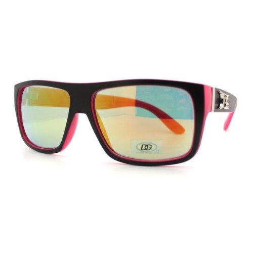 DG Sunglasses 2-Tone Multicolor Lens Square Skater Surfer Fashion BLACK - Skater Glasses