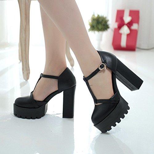 a alto a cava con scarpe White con Spessi ZHZNVX T tacco sandali F1T7wHvq