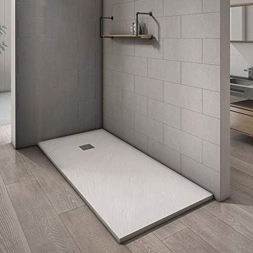 Ducha Viva plato ducha recortable de resina blanca 70 x 90 x 3 cm: Amazon.es: Hogar