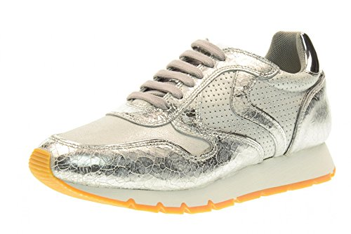 VOILE BLANCHE women's shoes sneaker 0012011156.04.9136 JULIA Silver Pahc9oi