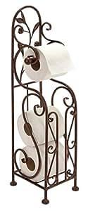 Deco 79 Metal Toilet Paper Holder, 24 by 8-Inch, Reddish/Bronze color