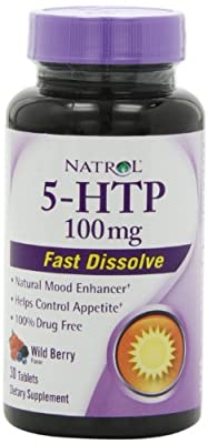 Natrol 5-HTP Fast Dissolve Tablets, Wild Berry Flavor, 100mg, 30 count