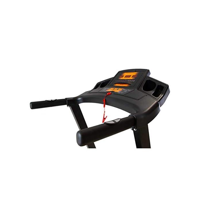 41G5jN6Q5pL Cinta de correr eléctrica plegable con apertura y cierre asistido Detección de la palma de las pulsaciones en el manillar. Inclinación eléctrica hasta un 10%. Aumenta la intensidad de los músculos de las piernas y la espalda.