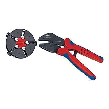 Knipex - Crimpzange mit Wechselmagazin Steckverbinder - Kabelschuhe - AderendhÜlsen 0.5...6.0 mm² mm²