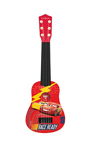 LEXiBOOK Disney Pixar Cars  Lightning McQueen My First Guitare, 6 Nylon Strings, 53 cm, Guide Included, red / Black, K200DC