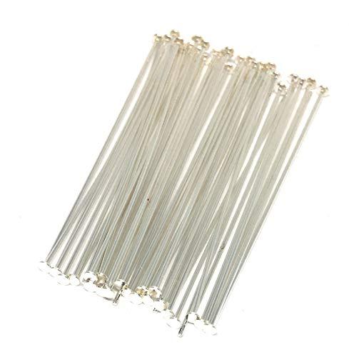(Sterling Silver Filled headpins 1.5 inch 24 Gauge (100))
