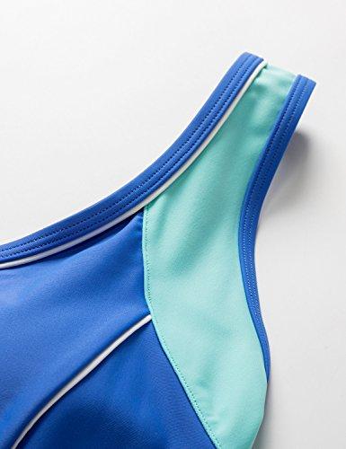 ... Delimira Damen Einteiler Badeanzug - Schlankheit Hotpants Bademode  Schwimmanzug Blau knkIVIbLG 7aae475ff8