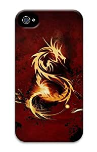 iPhone 4s Case and Cover - Red Dragon Cool PC Hard Case Cover for iPhone 4 and iPhone 4s