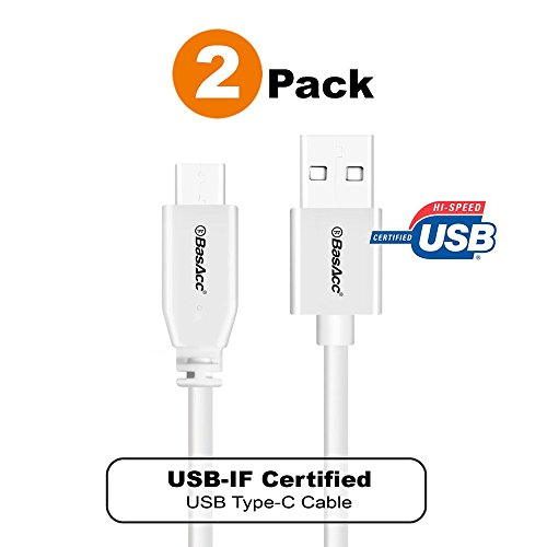 USB-IF Certified Type C Cable, BasAcc [2-Pack] 3.3ft(1m) USB-C Cable Compatible with Samsung Galaxy S10/S10 Plus/S10e/S9/S9+ S9 Plus/S8/S8+/MacBook/Pixel 2 3 XL/Apple iPad Pro 11