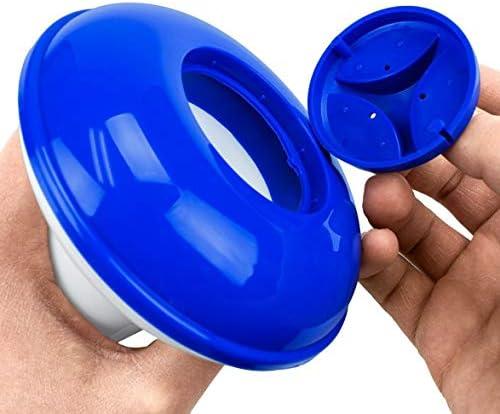 Tivollyff プラスチック化学タブレットフローティングディスペンサー臭素タブレットホルダープールスパ用自動プール化学ディスペンサー