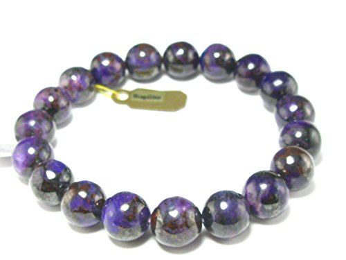 Sugilite A+ Grade Round Bracelet From South Africa - 7.5'' - 10mm Beads by The Russian Stone
