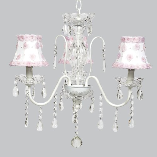 Jubilee Collection 2702 Petal Flower Chandelier Shade, White/Pink