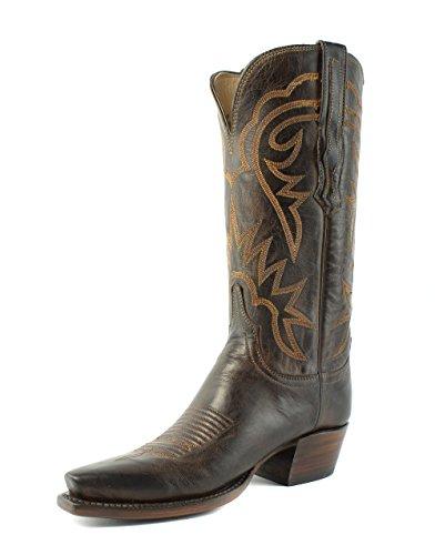 Lucchese Hl4510.54 Brinley Donna Stivali Da Cowboy In Pelle Di Capra Color Cioccolato C (wide)