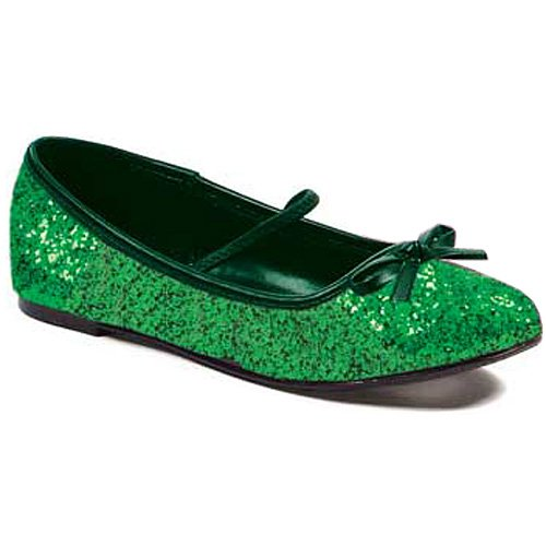 (Ellie Shoes 0 Heel Ballet Slipper with Glitter)