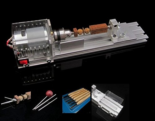 DIY Fundamental Wood Lathe Mini Lathe Machine Cutting Polisher Table Saw L-01 by opne