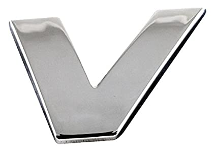 Sumex Branded Chrome 3D Sticker Self Adhesive Car /& Home Emblem Badge Letter V