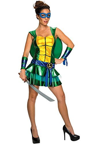 Secret Wishes Women's Teenage Mutant Ninja Turtles Leonardo Costume Dress, Multi, Small -