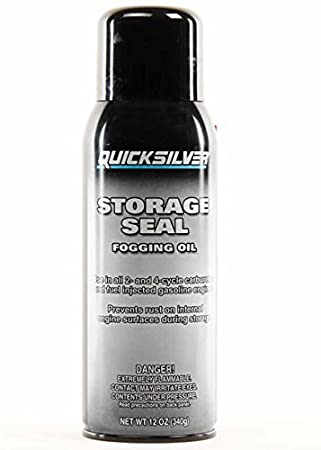 Quicksilver Mercury Mercruiser Boat Marine Storage Seal FOGGING Oil for All  2 & 4 Cycle Carburated & Fuel Injected Gas Engines Outboards Inboard &