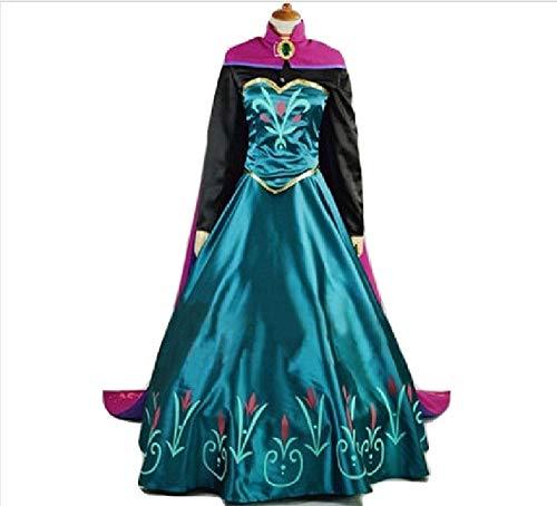 Snow Queen Princess Elsana Coronation Costume Dress and
