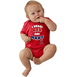 Los Angeles Angels MLB Newborn Infant I Drool Bodysuit Creeper (0-6 Months)