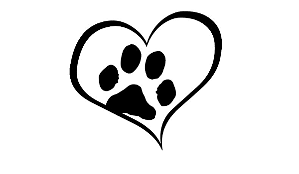 HEART BEAT LINE DOG AMERICAN FOXHOUND Puppy Paw Adoption Rescue CAR METAL DECAL