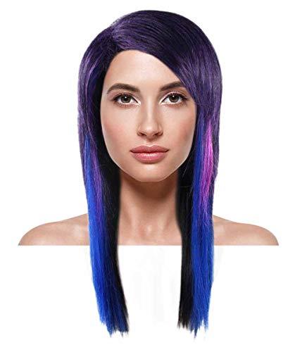 Hard Rockin Witch Wig, Tri-Color Adult ()