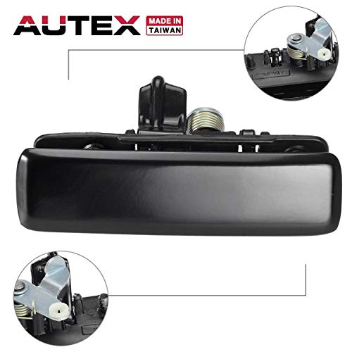 AUTEX Exterior Door Handle Front Left Driver Side Compatible with Chevrolet Astro,GMC Safari Van 1992-2005 77193, 15719665 GM1310108