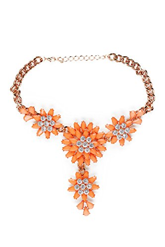 [Flower Bib Necklace Choker Collar Chain With Pendant Statement Necklaces For Women (yellow, golden,] (Tangled Costume Ideas)