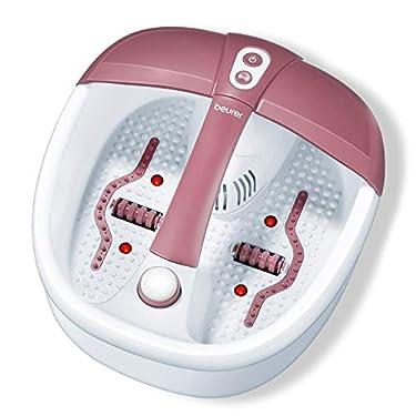 Beurer-FB35-HidroMasaje-para-Pies-140-W-3-funciones-masaje-vibratorio-masaje-burbujas-calentamiento-agua-16-imantes-aromaterapia-41-x-38-x-17-cm-rojo-y-blanco