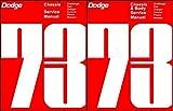 COMPLETE & UNABRIDGED 1973 DODGE CAR REPAIR SHOP & SERVICE MANUAL & BODY MANUAL SET INCLUDES: Challenger, Charger, Rallye, SE, Coronet, Dart Sport, Swinger, Custom, Polara, Monaco, Crestwood, and wagons.