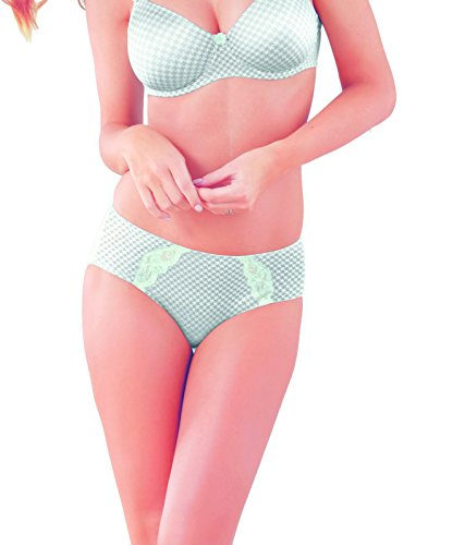 Rosa Faia Josephine Women`s High-waist Brief, ANI-1476, 12, silver mint ()