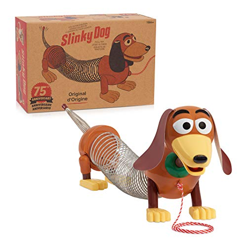 Retro Slinky Dog, The Original Walking Spring Toy, Vintage Spring Toys, Stretches to 14 Inches Long