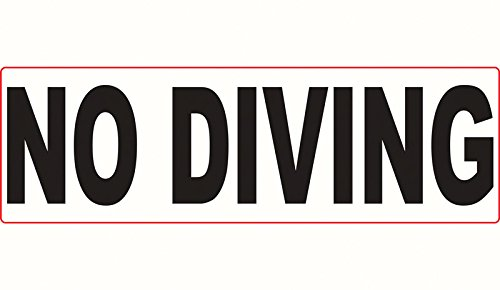 Depth Marker No Diving 3M Stick-On 200Lmsw1806 by Aquatic Technology