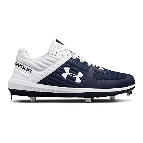 c3ca795b4 Under Armour Men s Yard Low ST Baseball Shoe Navy (402) White 8.5 M US