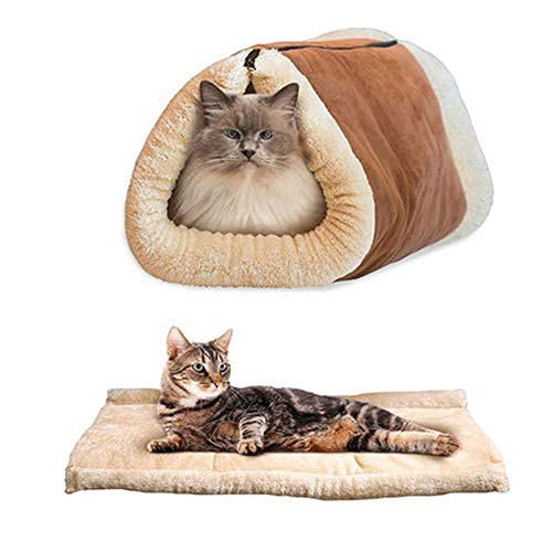YJYdada Pet Bed for Dog Cat Crate Mat Soft Warm Pad Liner Ho