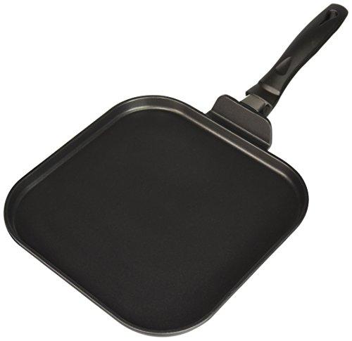 11' Square Griddle Pan - Uniware 11'' Heavy Gauge Non Stick Square Grill Pan,Black (Aluminum)