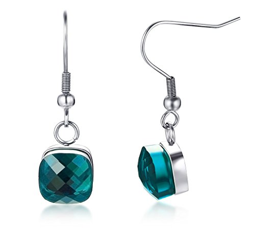 Aegean Jewelry Titanium Stainless Steel Lady's Fashion Drop Earrings with a Gift Box and a Cute -