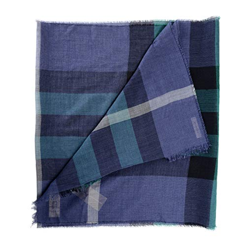 Burberry Wool Silk Multi-Color Checkered Unisex Scarf