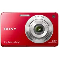 Sony Cyber-Shot DSC-W560 14.1 MP Digital Still Camera with Carl Zeiss Vario-Tessar 4x Wide-Angle Optical Zoom Lens and 3.0-inch LCD (Red) Advantages Review Image