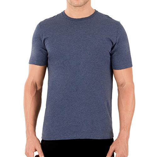 Cottonique Men's Hypoallergenic T-Shirt Made from 100% Organic Cotton (L, Melange Blue)