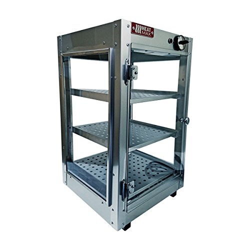 HeatMax 14x14x24 Commercial Food Warmer, Pizza, Pastry, Patty, Empanada, Hot Food, Concession, Catering, Convenience Store, Display Case