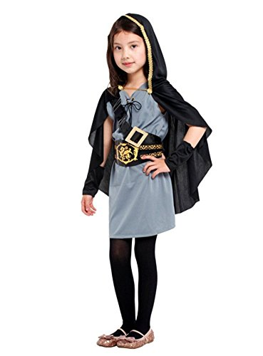 Kalanman Kids Girls Deluxe Halloween Dress Up Theme Party Cosplay Costume Party Fancy Dress (L(Fit for 7-9 Age), Huntsman 174)