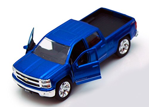 (Jada Toys 2014 Chevy Silverado Pickup Truck Collectible Diecast Model Car Blue)